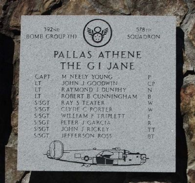 392nd Bomb Group 578th Sqdn image. Click for full size.