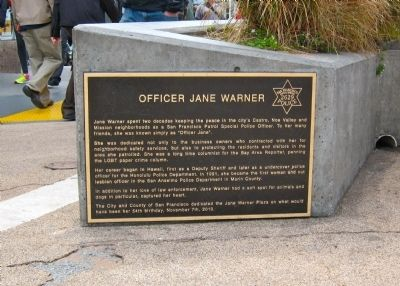 Anne Warner Marker image. Click for full size.