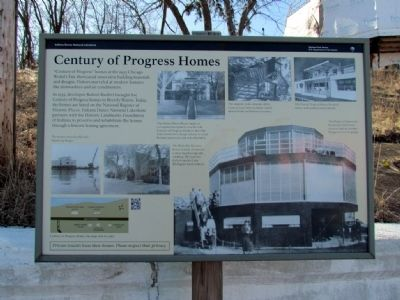 Century of Progress Homes Marker image. Click for full size.