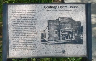 Coalinga Opera House Marker image. Click for full size.