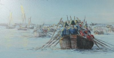 British launches rowing toward Havre de Grace image. Click for full size.
