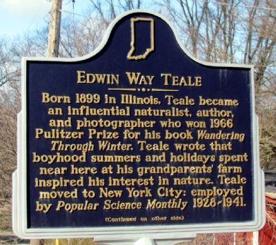 Edwin Way Teale Marker (Front) image. Click for full size.