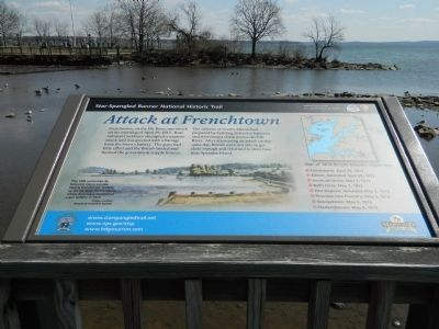 Attack at Frenchtown Marker image. Click for full size.
