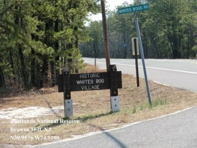 The entrance to Whitesbog Village image. Click for full size.