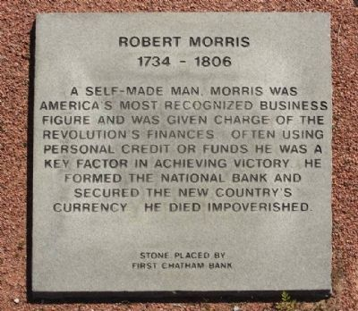 Robert Morris Marker image. Click for full size.