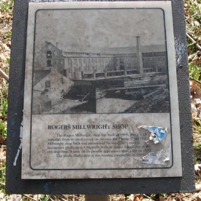 Rogers Millwright Shop Marker image. Click for full size.