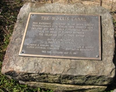 The Morris Canal Marker image. Click for full size.
