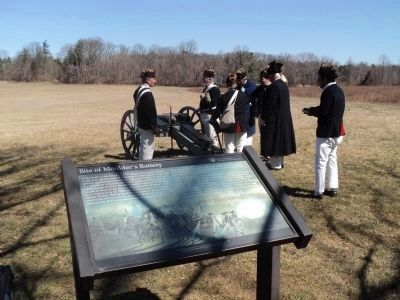 American Troops at Moulder's Battery image. Click for full size.