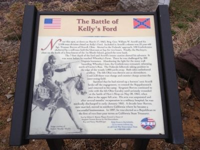 The Battle of Kelly's Ford Marker image. Click for full size.