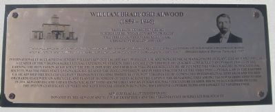 William Bradford Alwood Marker image. Click for full size.