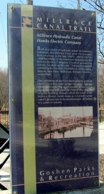 Millrace Hydraulic Canal - Hawks Electric Company Marker image. Click for full size.