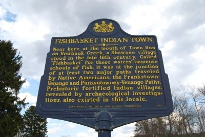 Fishbasket Indian Town Marker image. Click for full size.