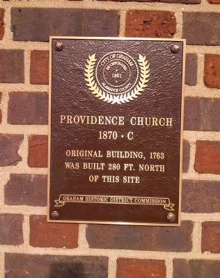 Plaque on the Providence Church image. Click for full size.