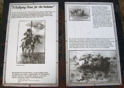 """A Rallying Point for the Indians"" Marker image. Click for full size."