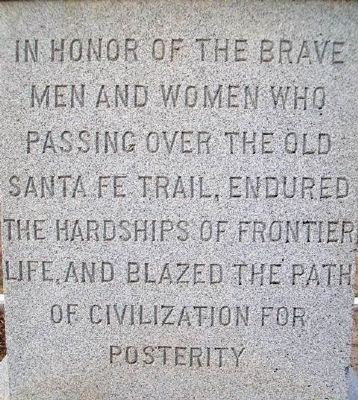 Santa Fe Trail Monument Dedication image. Click for full size.