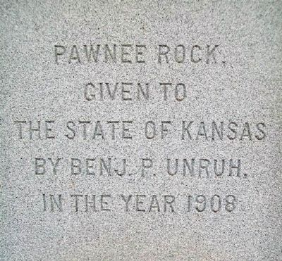 Pawnee Rock Donor on Santa Fe Trail Monument image. Click for full size.