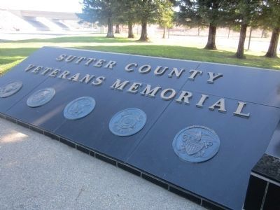 Sutter County Veterans Memorial and Service Logos image. Click for full size.