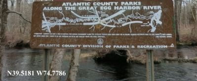 Atlantic County Parks Along the Great Egg Harbor River Marker image. Click for full size.