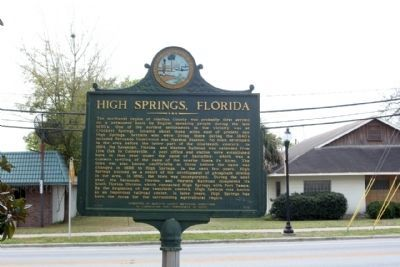 High Springs, Florida Marker, along NW 1st Avenue State Route 20 (U.S. 27) image. Click for full size.