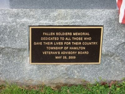 Fallen Soldiers Memorial Marker image. Click for full size.