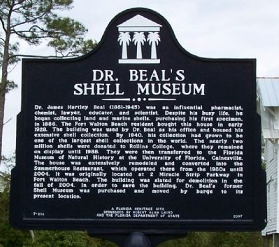 Dr. Beal's Shell Museum Marker image. Click for full size.