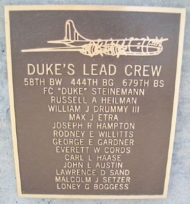 Duke's Lead Crew Marker image. Click for full size.