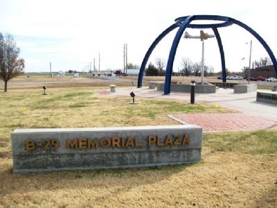 B-29 Memorial Plaza, Great Bend, Kansas image. Click for full size.