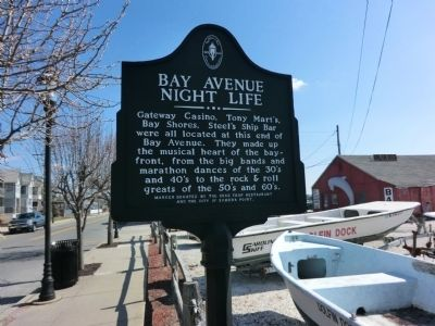 Bay Avenue Night Life Marker image. Click for full size.