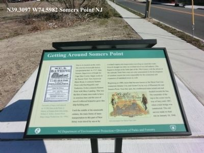 Getting Around Somers Point Marker image. Click for full size.