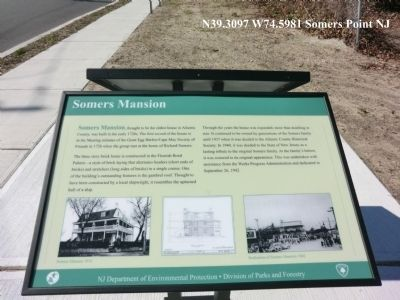 Somers Mansion Marker image. Click for full size.