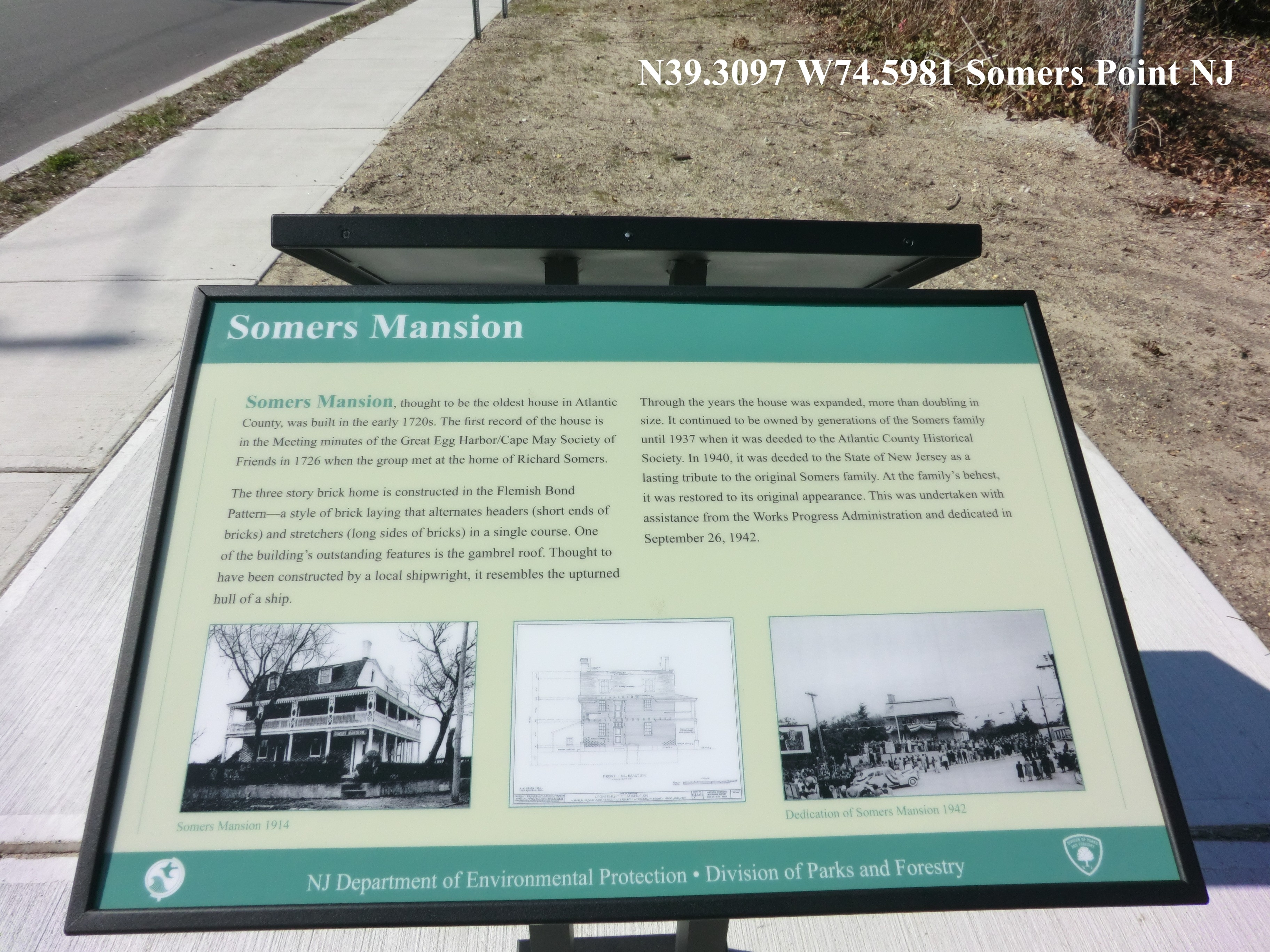Somers Mansion Marker