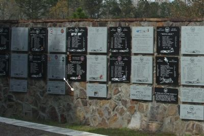 Members Of The Rüsselsheim Death March Marker, Wall of various crews image. Click for full size.