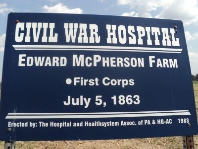 Edward McPherson Farm Marker image. Click for full size.