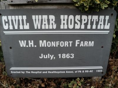 W.H. Monfort Farm Marker image. Click for full size.