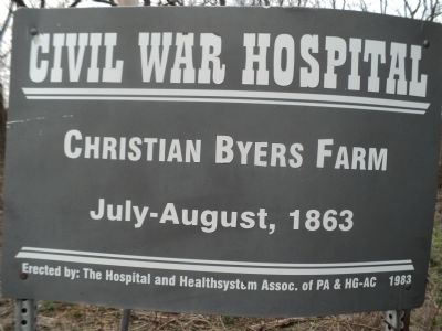 Christian Byers Farm Marker image. Click for full size.