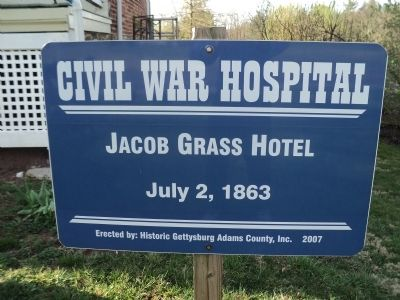 Jacob Grass Hotel Marker image. Click for full size.