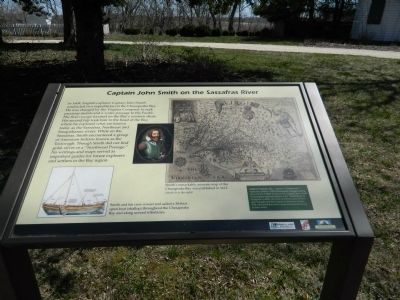 Captain John Smith on the Sassafras River Marker image. Click for full size.