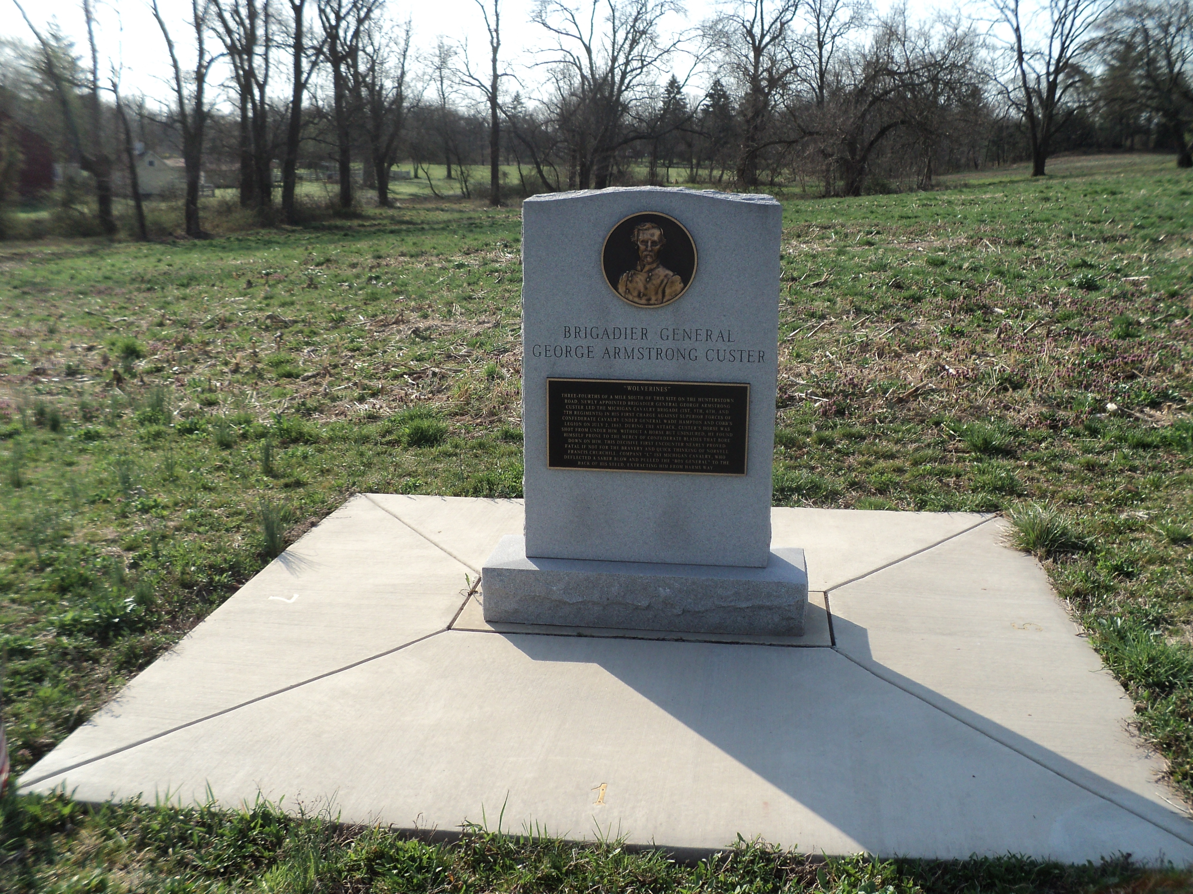 Brigadier General George Armstrong Custer Marker