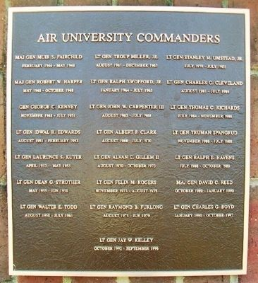 Air University Commanders Marker image. Click for full size.