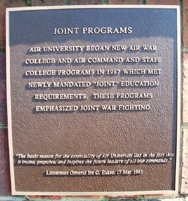 Joint Programs Marker image. Click for full size.