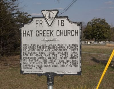 Hat Creek Church Marker image. Click for full size.