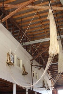 Era parachutes on display Inside Hangar No. 1 image. Click for full size.
