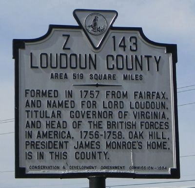 Loudon County Marker image. Click for full size.