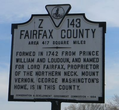 Fairfax County Marker image. Click for full size.