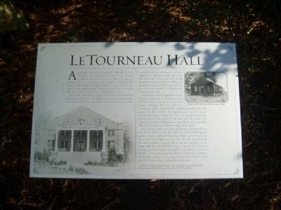LeTourneau Hall Marker image. Click for full size.