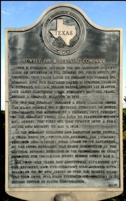 Humble Oil & Refining Company Marker image. Click for full size.
