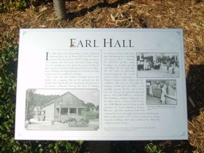 Earl Hall Marker image. Click for full size.