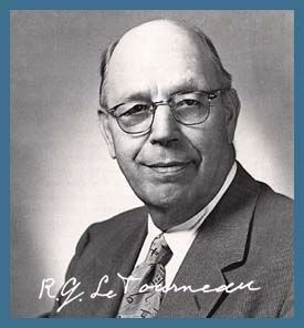 R.G. LeTourneau<br>November 30, 1888 &#8211; June 1, 1969 image. Click for full size.