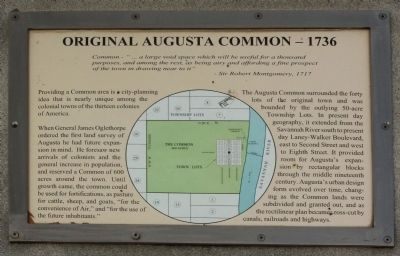 Original Augusta Common - 1736 Marker image. Click for full size.