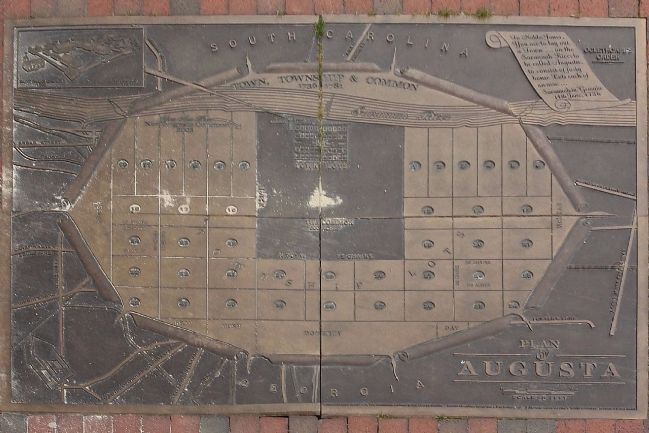 Plan of Augusta -sidewalk pavers image. Click for full size.